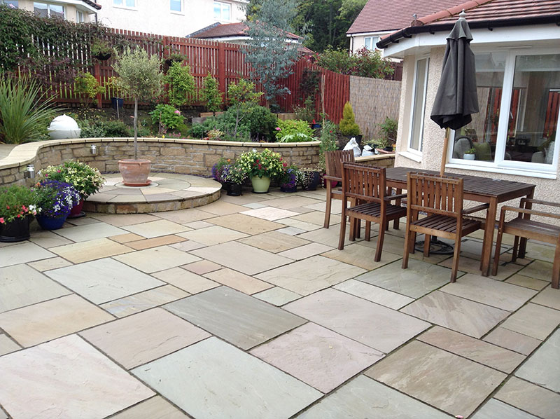 patios paths paving traquair paving restoration